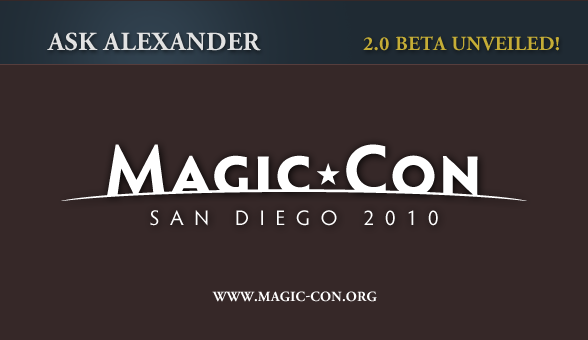 Alexander 2.0 Beta to be Unveiled at Magic-Con!