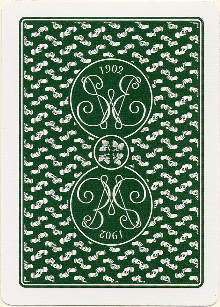 Erdnase 1902 Green Acorn Back Playing Cards Conjuring