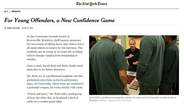 Hocus Pocus Project in The New York Times!